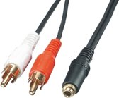 Lindy AV Adapter Cable - 3.5mm Female - 2 x RCA Male