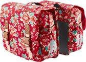 Basil Bloom Double Bag - Dubbele Fietstas - 35 l - Scarlet Rood