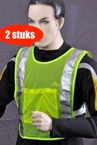 Safeways EN1150 HiViz Veiligheidshesje - Reflectie - 2stuks