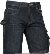 Korte werkbroeken Brams Paris RUBEN Korte spijkerbroek DarkstoneW36