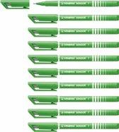 STABILO SENSOR Fineliner 0,3 mm Licht Groen - Doos 10 stuks