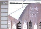 Family planner XL Home MGP 2019 - Familieplanner Omlegkalender - 1 week/1 pagina - Home - Huisjes - 34 x 24,5 cm (BBP)