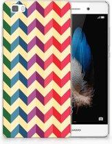 Huawei Ascend P8 Lite Uniek TPU Hoesje Zigzag Color