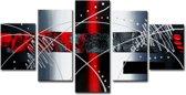 Art4-all - Canvas Schilderij Vingerafdruk - 160x80cm