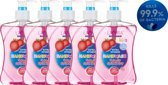 Lacura Handzeep - Splashy Strawberry - Antibacterieel - 5 x 500ml - Voordeelverpakking