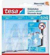 Tesa klevende haak voor glas en transparant