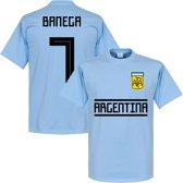 Argentinië Banega 7 Team T-Shirt - Licht Blauw - XS