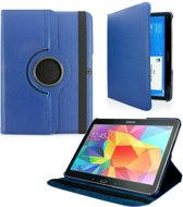 Samsung Galaxy Tab 4 10.1 T530 / T535 Tablet Case met 360° draaistand cover hoes Kluer Donker Blauw