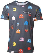 Pac-man – All Over Characters T-shirt - L