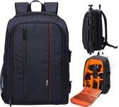 Beefree Universele DSLR Camera Fototas - Zwart met Oranje