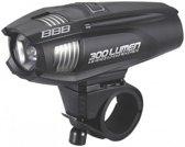 BBB - BLS-71 Strike - LED Koplamp Fiets - 300 Lumen - USB Lader - Zwart