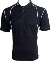 KWD Poloshirt Victoria korte mouw - Zwart/wit - Maat M
