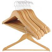 Houten kledinghangers met uitsparing 15 st