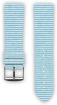 100% katoenen horlogeband met leder (achterzijde) Sea 24 mm