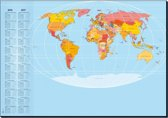 Bureauonderleggers Sigel 59,4x41cm 30 vel wereldkaart