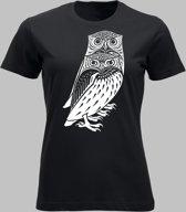 T-shirt V Twee bosuilen - Zwart - V - XXL Sportshirt