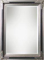 Spiegel - Gwen- zwart / zilver - buitenmaten breed 61 cm x hoog 181 cm.