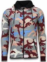 JMPR Exclusive Camo Trainingspakken - Camouflage Joggingpak - Grijs - Maat: XL