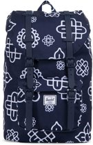 Herschel Supply Co. Little America Mid-Volume Rugzak - Peacoat Paisley Print / Peacoat Rubber