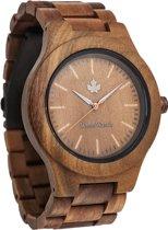 WoodWatch | CORE Groen Sandelhout 45mm | Houten horloge