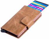Figuretta Cardprotector PU-leather - Zandbruin PU 11
