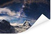 Een donkere sterrenhemel Poster 180x120 cm - Foto print op Poster (wanddecoratie woonkamer / slaapkamer) XXL / Groot formaat!