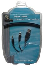 Piranha USB Transfer Twincable USB-kabel 1,83 m Zwart