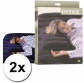 2 Opblaasbare kussens - Intex - 43 x 28 x 9 cm - Kampeerkussen - Reiskussen - Opblaasbaar