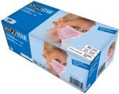 Mondmasker (medisch) 3-laags roze 50 stuks met oorelastiek