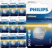 10 Stuks - Philips CR2450 3v lithium knoopcelbatterij