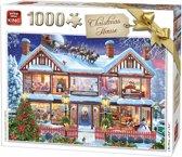 King Puzzel 1000 Stukjes (68 x 49 cm)- Christmas House - Kerstpuzzel