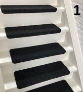 Trapmatten 15 x Solid  zwart  65x22x3,5cm recht
