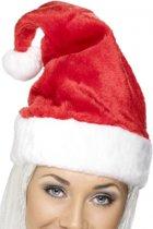 Pluche luxe kerstmuts