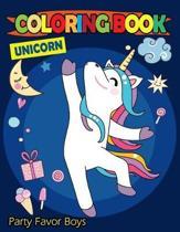 Unicorn Coloring Book Party Favor Boys