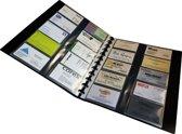 EXXO-HFP #17368 - FLEXZIP A4 Hervulbaar Visitekaart Album - Zwart - incl. 20 Tassen v/400 kaartjes - 1 Stuk
