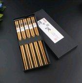 Chopsticks - Bamboe - 5 paar - Sushi - Giftset