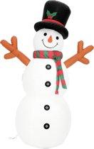 EUROPALMS Opblaasbare Sneeuwpop met  LED verlichting en geïntegreerde pomp -180cm -  kerst decoratie -
