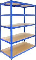 Monster Racking T-Rax Strong Storage Shelves, Blue, 120cm W, 60cm D, Set of 10