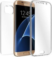 Shockproof 360� Samsung Galaxy S7 Edge Siliconen Ultra Dun Gel TPU Hoesje Full Cover / Case - (Voor en Achter) Transparant