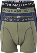 Muchachomalo boxershorts - 3-pack - blauw - groen - zwart -  Maat M