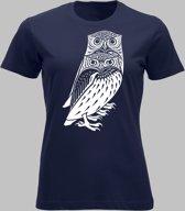 T-shirt V Twee bosuilen - Darknavy - V - XXL Sportshirt