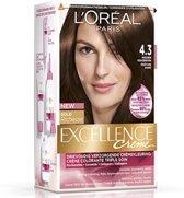 L'Oréal Paris Excellence Crème 4.3 - Midden Goudbruin - Haarverf