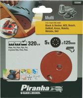 Piranha Schuurschijf  excentrische schuurmachine 125mm, 320K 5 stuks X32262