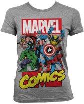 Marvel Dames Tshirt -M- Grijs