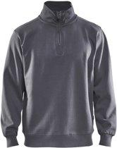 Blåkläder 3365-1048 Sweatshirt Jersey (1/2 Rits) Grijs maat M