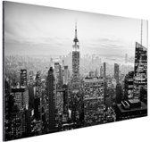 FotoCadeau.nl - New York City zwart-wit  Aluminium 60x40 cm - Foto print op Aluminium (metaal wanddecoratie)