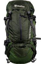 Beefree 55 Liter nylon Backpack groen | Inclusief regenhoes