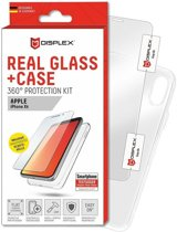 Displex 2D Real Glass + Case Apple iPhone XR 360° Protection Kit