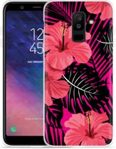 Galaxy A6 Plus 2018 hoesje Tropical Flowers