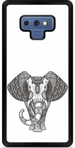Galaxy Note 9 Hardcase hoesje Elephant Mandala Black